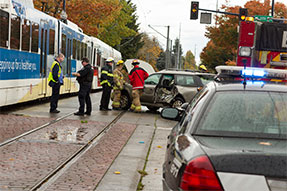 transit police accident