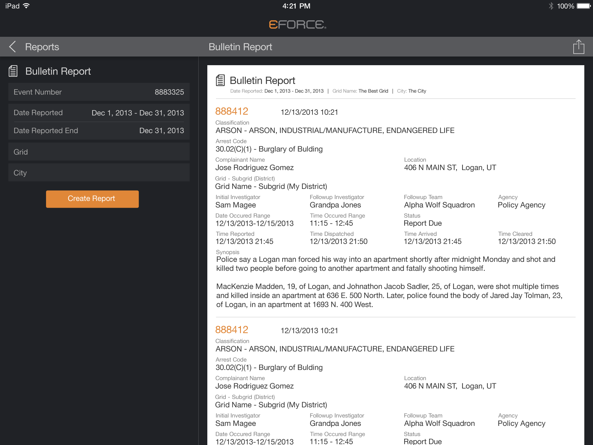 transit reports for iPad