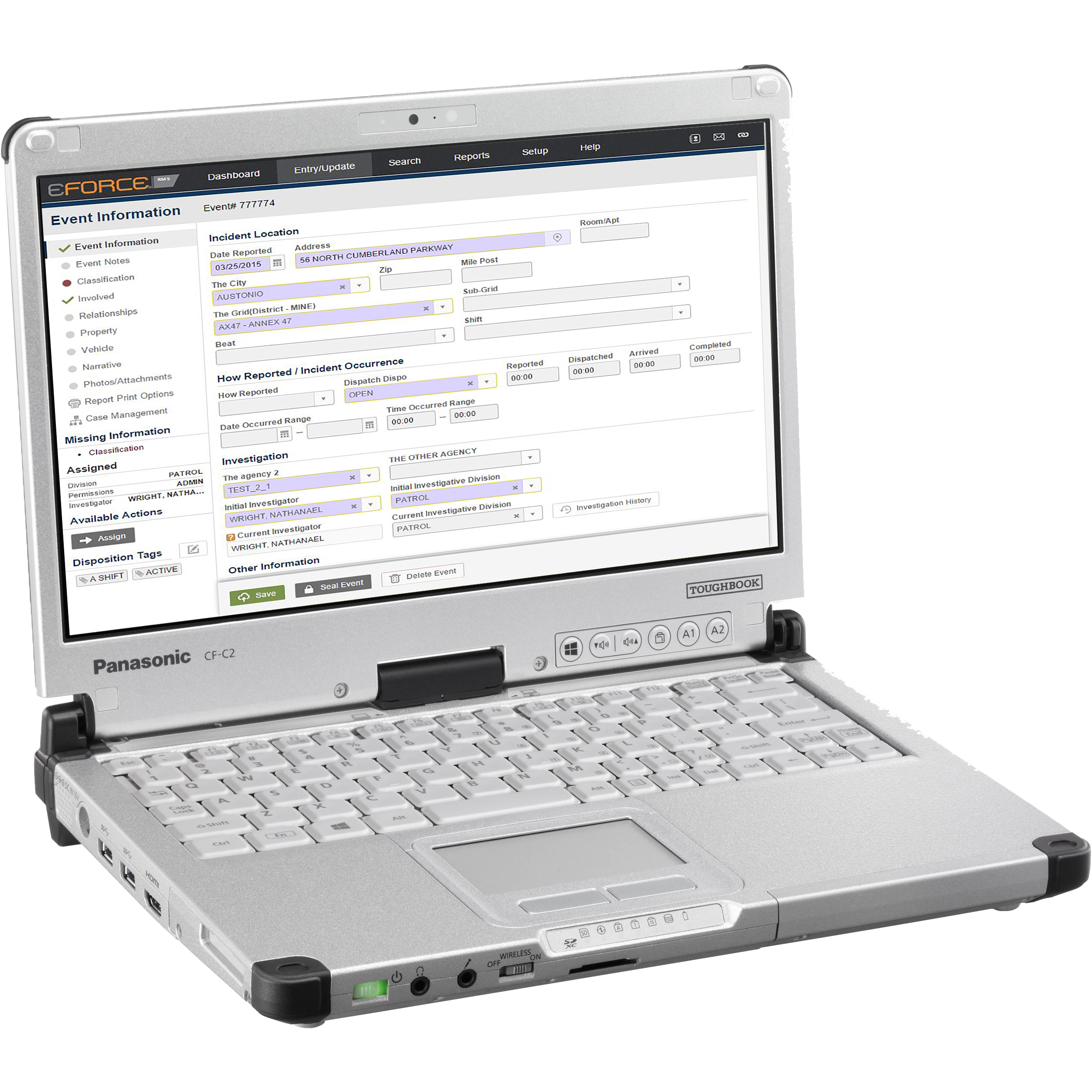 RMS on toughbook